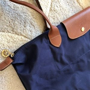 Longchamp Le Pliage Large Shoulder Tote NAVY